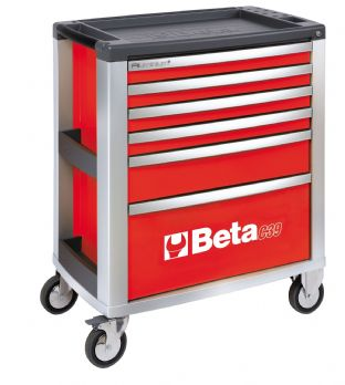 Beta C39 R/6 Mobile Roller Cab With Six Drawers (Red)